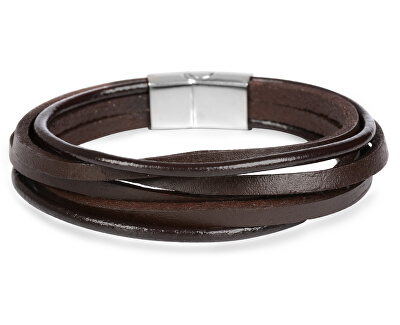 Brățară din piele maro Leather
