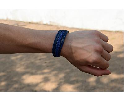 Armband aus Lederriemen