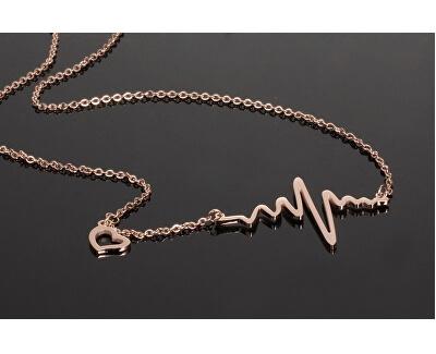 Originale vergoldete Halskette Herzschlag KNSC-253