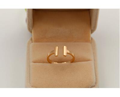 offener rosevergoldeter Stahl Ring