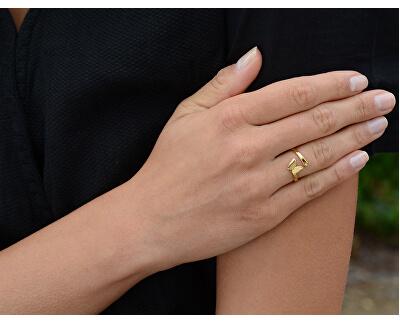 Romantischer Edelstahl Ring mit Schmetterling
