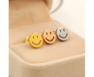 Cercei din oțel Smiley KE-002