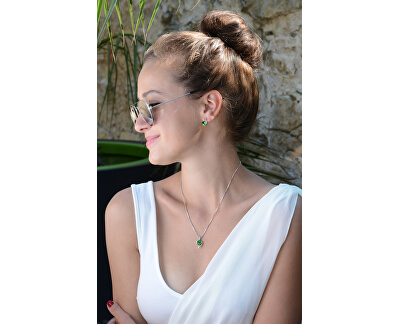 Set von Halskette und Ohrringen Fern Green