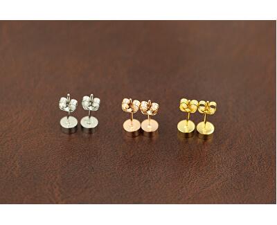 Cercei sclipitori cu șurub placați cu aur KE-004