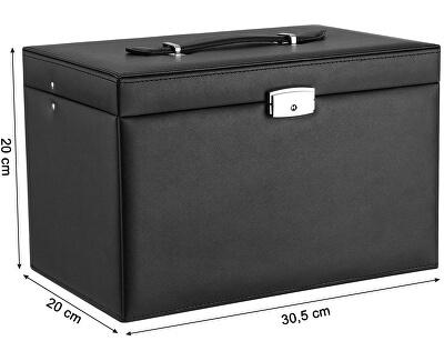 Designová černá šperkovnice JBC001