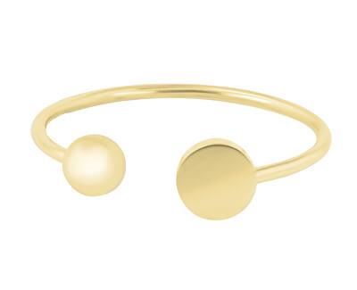 Designová pozlacená sada ocelových prstenů