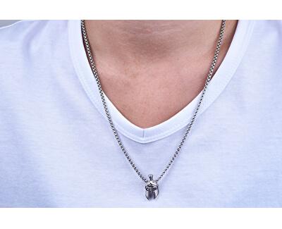 Designový pánský náhrdelník s rytířskou přilbou