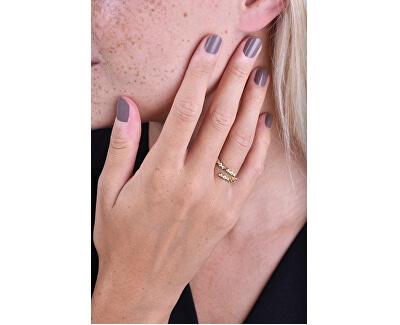 Design vergoldeter Ring mit Zirkonen