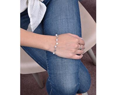 Feines vergoldetes Armband mit Perlen