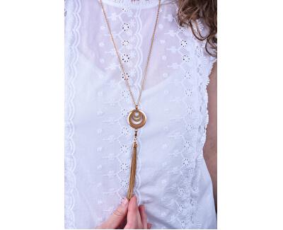Funktionelle vergoldete Halskette mit austauschbarer Mitte 132463D