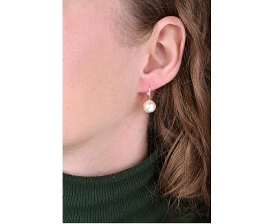 Elegantní perlové náušnice s klapkou Pearl White 71106.1 71107.1