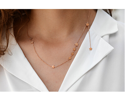 Oceľový náhrdelník s hviezdičkami