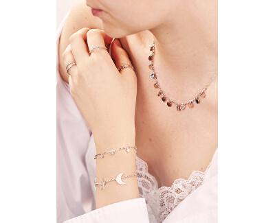 Penízkový náhrdelník z růžově pozlacené oceli