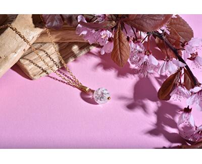 Pozlátený náhrdelník s modrým tygrím okom