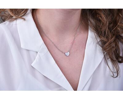 Romantický ocelový náhrdelník se srdíčkem