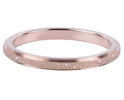 Bronzový oceľový trblietavý prsteň