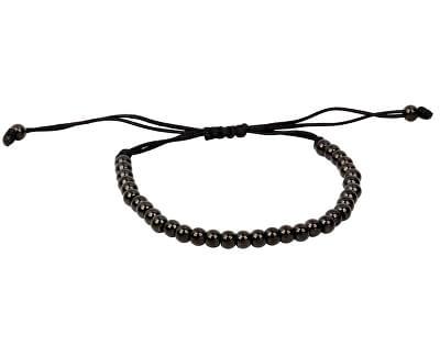 Černý kuličkový náramek z oceli s nastavitelnou délkou