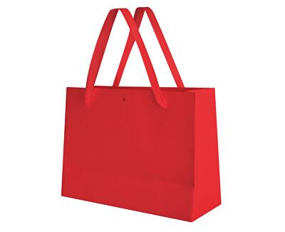 Červená dárková taška