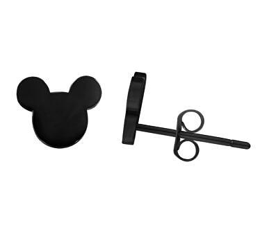 Designové černé náušnice Mickey Mouse