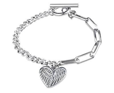 Designový ocelový náramek s přívěskem Srdce