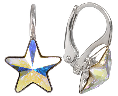 Dívčí stříbrné náušnice Star 10 mm Crystal AB
