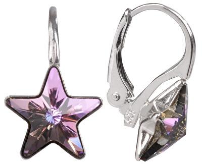 Dívčí stříbrné náušnice Star 10 mm Vitrail Light