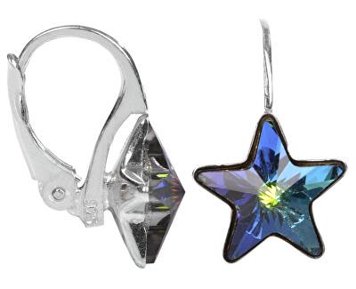 Cercei din argint pentru fete Star 10 mm Vitrail Medium