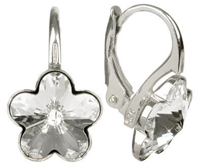 Dívčí stříbrné náušnice Flower Crystal