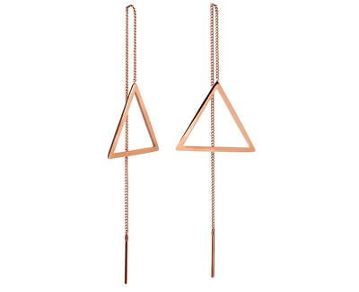 Dlouhé bronzové náušnice s trojúhelníky