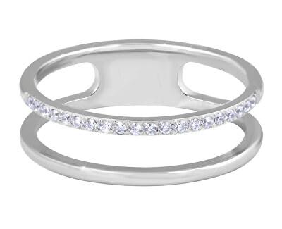 Dvojitý minimalistický prsten z oceli Silver