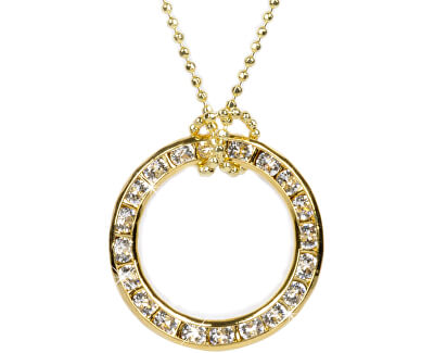 Náhrdelník Circle zlatý 20 mm Crystal