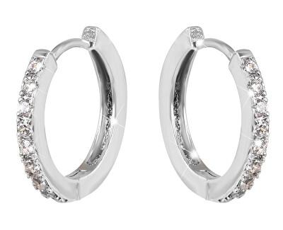 Ocelové náušnice kroužky s krystaly VREPE003S