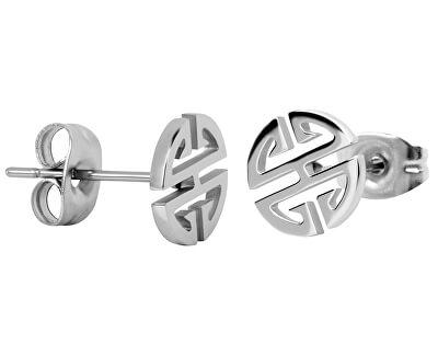 Stahl Ohrringe aus Stahl in Form von Ornament