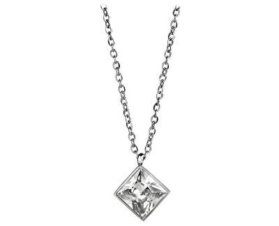 Oceľový náhrdelník s štvorcovým príveskom