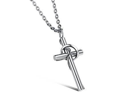 Colier din oțel cu cruce