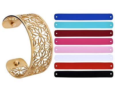 Oceľový náramok s vymeniteľnými farbami XI.