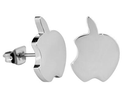 Kôstkové oceľové náušnice nahryznuté jablko