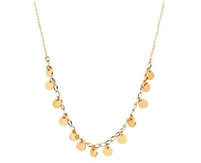 Peniažkový náhrdelník z pozlátenej ocele