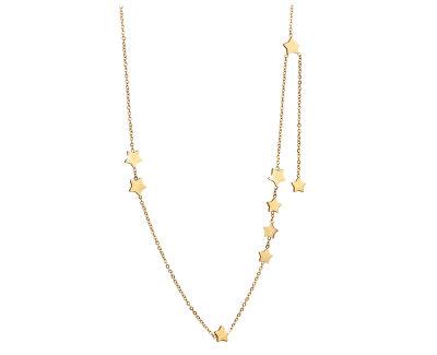 Pozlacený hvězdičkový náhrdelník z oceli