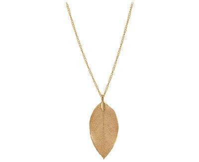 Vergoldete Halskette mit Lorbeerblatt II. Laurel