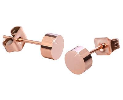 Rosévergoldete Stahlohrringe Ohrstecker KE-005
