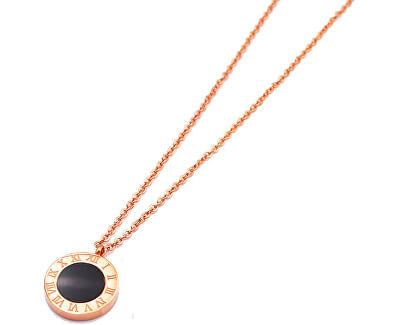 Rosevergoldete Halskette mit doppeltem Anhänger