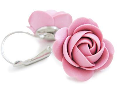 Cercei roz Floricele