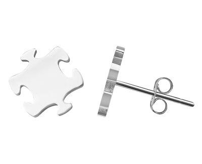 Stylové ocelové náušnice Puzzle