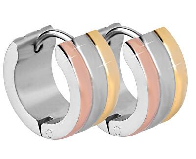 Tricolor náušnice krúžky z ocele