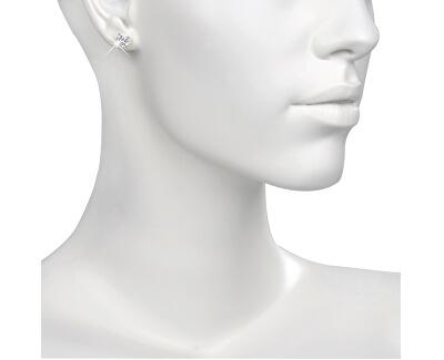 Nemesacél fülbevaló kristállyal ESJ04