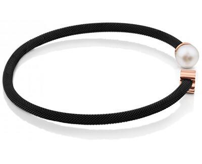 Luxusné oceľový náramok s pravou perlou 613101510