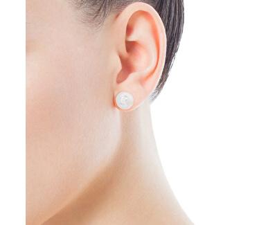 Náušnice z pravých perál s medvedíkom 411143500
