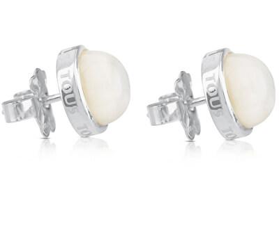 Strieborné náušnice s perleťou 215113500