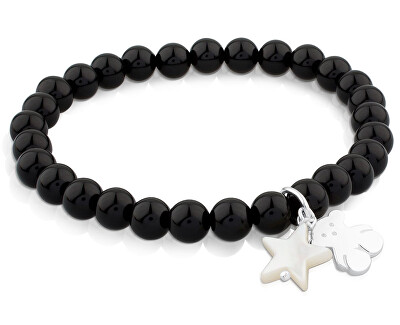 Onyxová náramok s medvedíkom a hviezdičkou 515114570-M